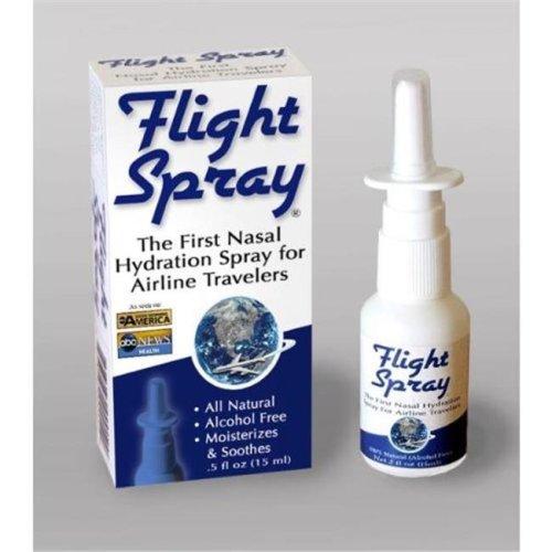 Flight Spray Nasal Hydration Spray for Airline Travelers - 0.5 Ounce BottlesBoxed