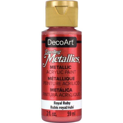 Dazzling Metallics Acrylic Paint 2oz-Royal Ruby