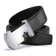 120CM Genuine Leather Designer High Quality Smooth Buckle Belt Hollow Alloy Buckle Belts for Men