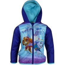 Girls DHQ1599 Paw Patrol Lightweight Hooded Jacket with Bag Size: 3-6 Years