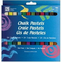 Chalk Pastels 24/Pkg-Assorted Colors