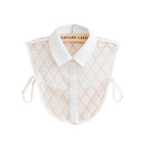 Trendy Detachable Lace Collar Fake Collar All-match Fake Half Shirt for Women, #04