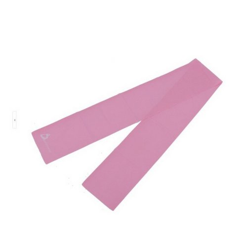 Exercise / Stretch / Resistance Band 5.9''Long Latex Yoga Band (Pink)