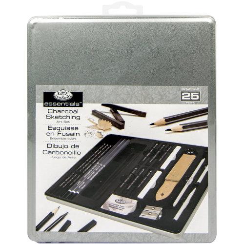 essentials(TM) Medium Charcoal Art Set W/Tin-