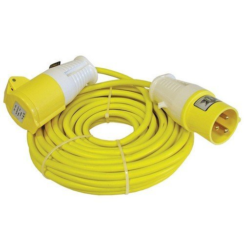 Faithfull FPPTL14ML Trailing Lead 14 Metre 1750w 16 Amp 1.5mm Cable 110 Volt