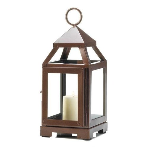 Gallery of Lighting 10018085 Copper Mini Contemporary Candle Lantern