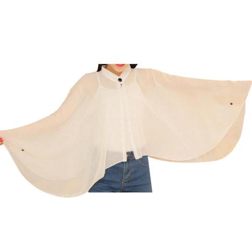 Sun Protective Clothing Women's Clothing Scarf Wraps Long Sleeve Shirts White