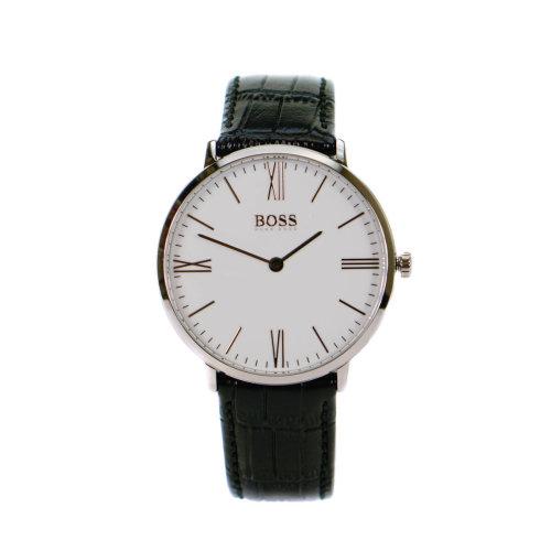 Hugo Boss Jackson Black & White Men's Leather Watch 1513370