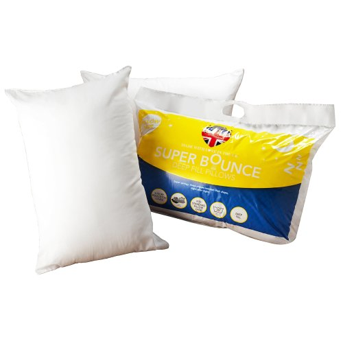 DreamTime MF02698 Super Bounce Hollow Fibre Pillow, Pack of 2, White