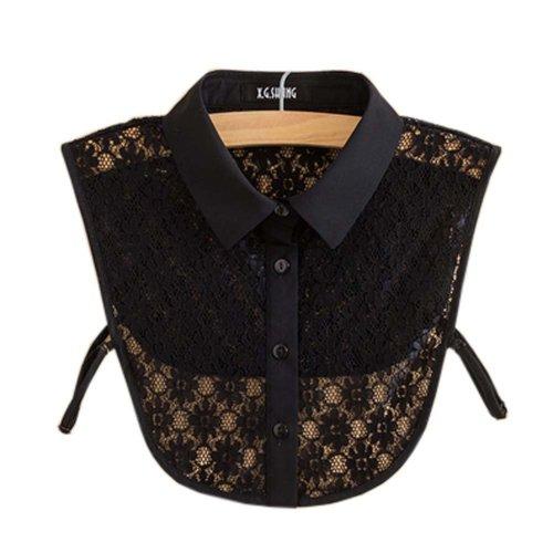 Trendy Detachable Lace Collar Fake Collar All-match Fake Half Shirt for Women, #02