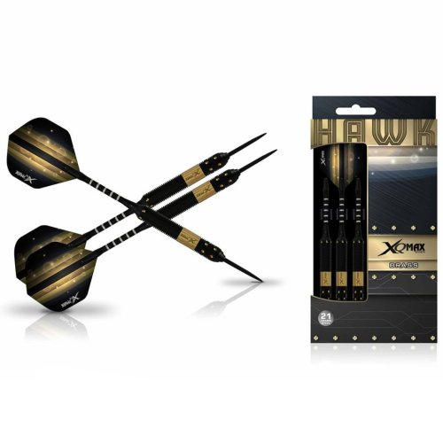 XQmax Darts Dart Set Hawk 3 pcs 21g Brass Steel QD1103130