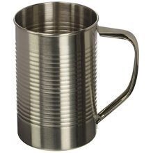 Thumbs Up! Canteen 1 (us) Pint Field Mug In Tin, Stainless Steel, Silver, 14x - -  barbuzzo metal canteen drinking tankard glass cup mug pint camping