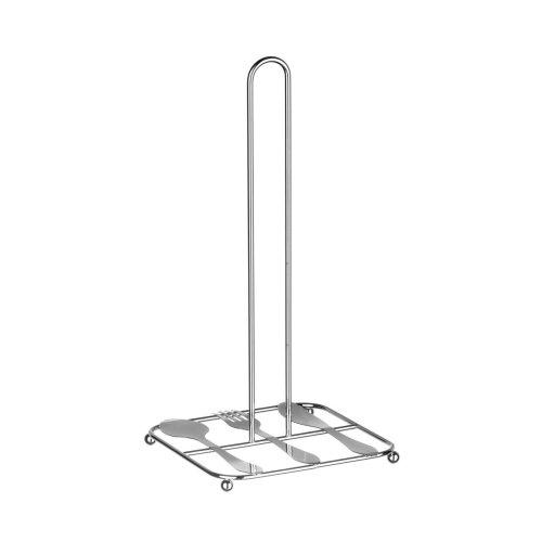 Cutlery Design Kitchen Roll Holder - Chrome