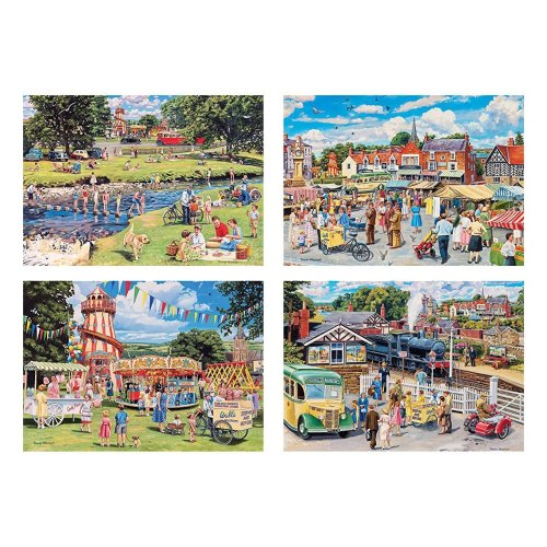 Gibsons Stop Me & Buy One Jigsaw Puzzles (4 X 500 Pieces)