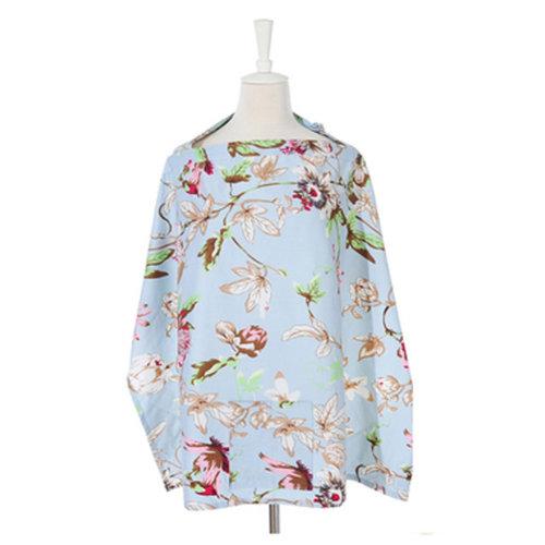100% Cotton Classy Nursing Cover Large Coverage Breastfeeding Nursing Apron Q