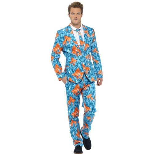 XL Adult's Goldfish Suit -  suit mens fancy dress goldfish stand out costume stag party do outfit funny new comedy suits