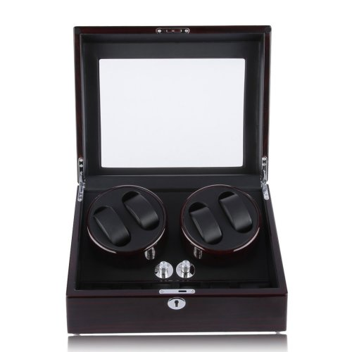 Excelvan Automatic Watch Winder 4+6 Luxury Watch Display Box Storage Case Piano Paint Watch Rotator Premium Silent Watch Turner with 4 Timer Modes...