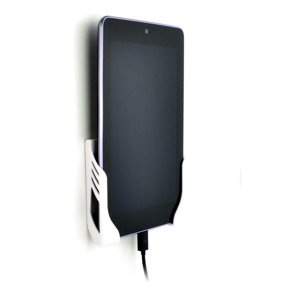 Dockem Koala Tablet Wall Mount Dock for iPad 1/2/3/4, Mini, Air, Xperia Z,  Samsung Galaxy Tab/Note, Nexus 7/10, and more (White Brackets, Screw-in