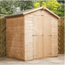 4x6 Modular Shiplap Apex Shed - Windowless - DD