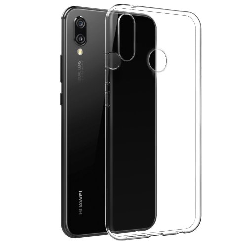 iPro Accessories Huawei P20 Lite Case, Clear Case For Huawei P20 Lite, [Fusion] [Clear] [Silicone Case] [Slim] [Phone Charm] [Gel Case] [Transparent] [Shock Absorption]