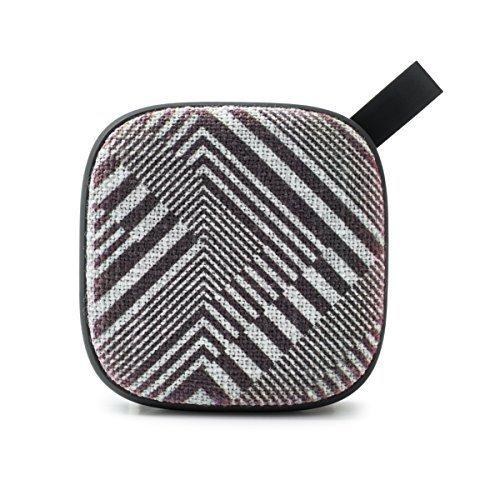 Smart Buddie Fabric Printed 4 Watt Bluetooth Speaker with Mic Black and White Geo Print