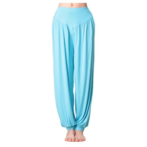 Solid Modal Cotton Soft Yoga Sports Dance Fitness Trousers Harem Pants, N