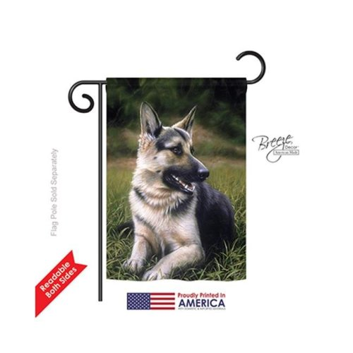 Breeze Decor 60051 Pets German Shephard 2-Sided Impression Garden Flag - 13 x 18.5 in.