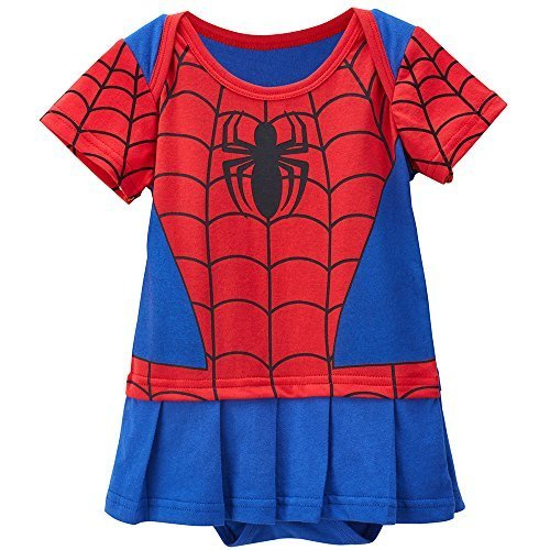 Spidergirl-inspired Baby Infant Superhero Costume