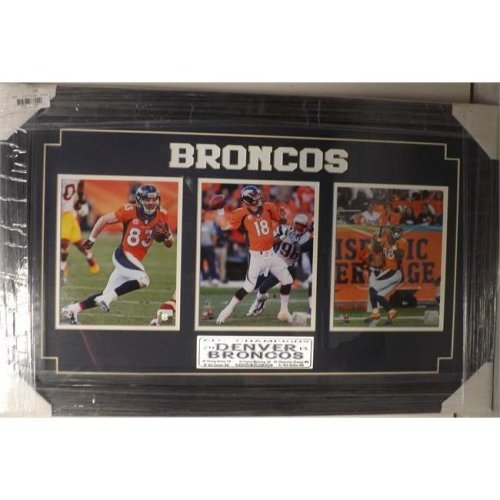 Encore Select 331-10 15 x 35 in. Three Photo Frame - Denver Broncos