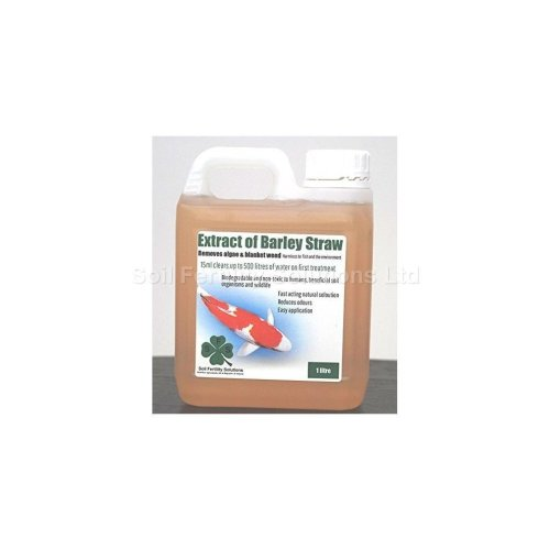 Extract of Barley Straw, removes algae & blanket weed, 1L treats up to 36,000Lts