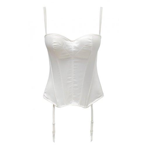 Panache 5437 Masquarade Tiffany Underwired Strapless Multiway Basque Ivory Off-White 28D