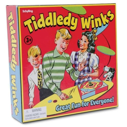 Tiddledy Winks Game - Fun Traditional Family Game - Tiddlywinks - Birthday