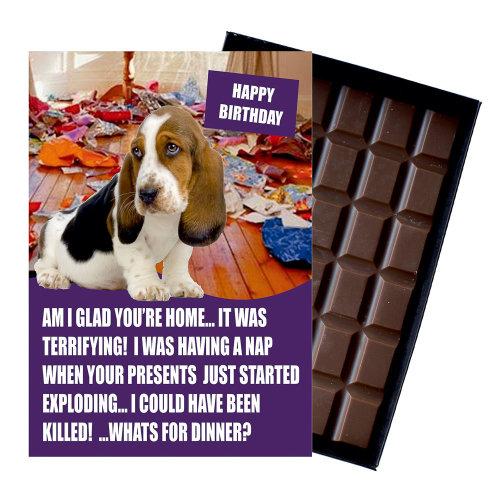 Bassett Hound Owner Dog Lover Mother's Day Gift Chocolate Present For Mum Mummy