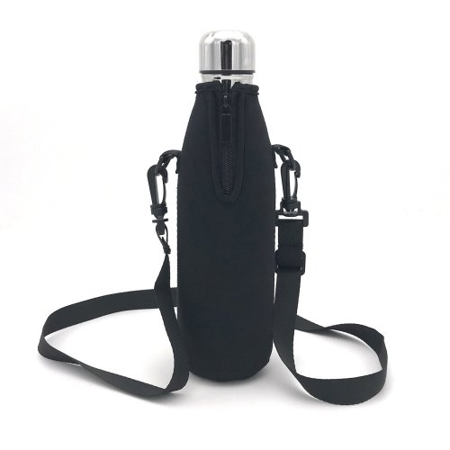 Wommty Neoprene 20Oz(480ml) Insulated Water Drink Bottle Cooler Bottle Carrier Bottle Sleeve Tote Bag with Carrying Strap for Climbing Cycling and...