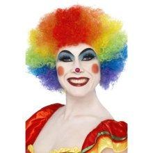 Smiffys Crazy Clown Wig - Rainbow -  wig clown crazy smiffys afro fancy dress rainbow