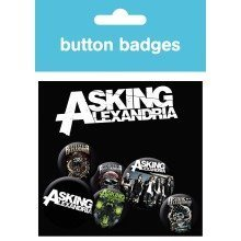 Asking Alexandria Graphics Badge Pack