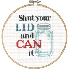 Dimensions Counted X Stitch -Shut your Lid