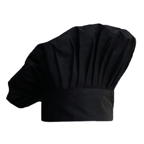 Fashion Pleats Kitchen Cook Hats Mushroom High Quality Chef Hats-Black
