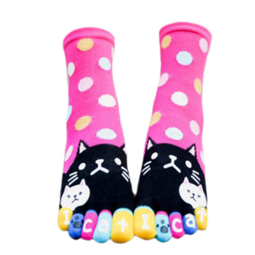 Tube Toe Socks Cotton Soft House Socks Cartoon Cute Socks-A12