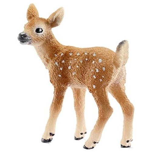 14711 Tailed Fawn Figurine, White