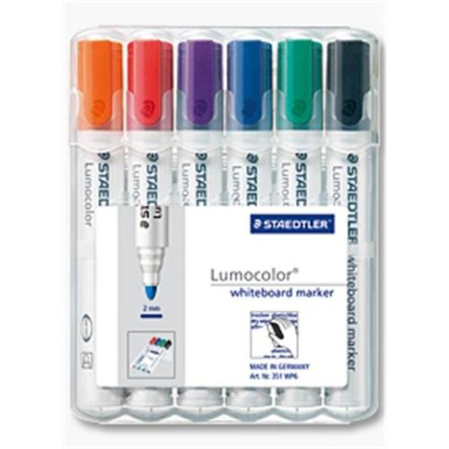 Staedtler Lumocolor 351 WP6 Black, Blue, Green, Orange, Red,...