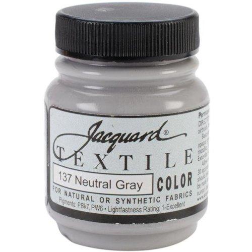 2.25 oz Textile Color Fabric Paint, Neutral Gray