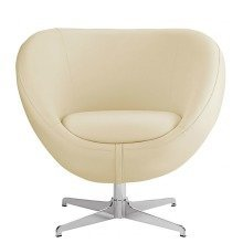 Balisy Modern Swivel Chair in Cream Contemporary Funky Design