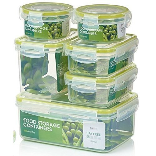 331904712d91 Zoë&Mii Premium Extra Strong, Airtight, 7 Piece Smart Lock Lid, Plastic  Food Containers, Takeaway, Storage,100% Leak Proof,Lunch Boxes, Clip Lid.