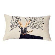 Beautiful Lumbar Pillow Simple Practical Office Rectangle Pillow, Black