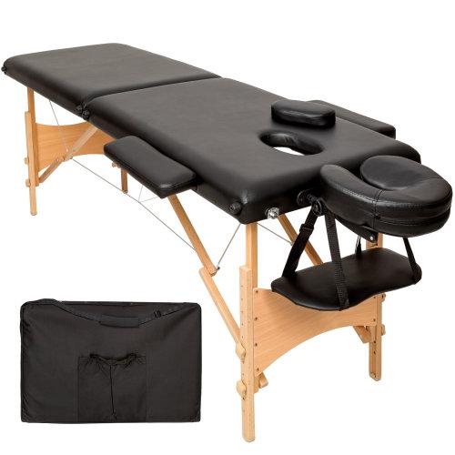 2-zone massage table Freddi 5 cm padding + bag black