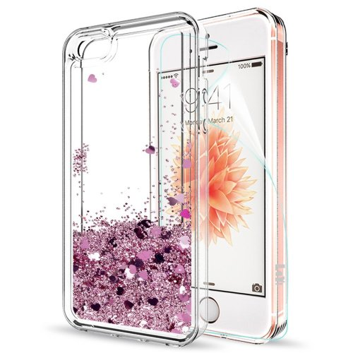 4a951add59b4df Phone Case IPhone SE / IPhone 5S / IPhone 5 / Iphone SE 2 Case Cover  Glitter Clear ,LeYi Bling Shiny Liquid Sparkly Quicksand Cute Transparent  TPU... on ...