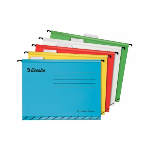 Esselte Classic A4 Vertical Suspension Files - Assorted, Pack of 10