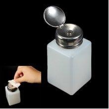 200ml Empty Nail Polish Remover Liquid Press Pressing Pump Dispenser Bottle