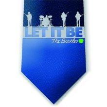 The Beatles Tie -  beatles blue mens silk tie let logo outline dress casual 100 official